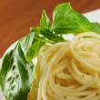 Noodles tagliolini with seafood - Stock Photo