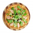 Stock Photo: Pizza Atlantic salmon