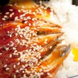 Stock Photo: Broiled eel on rice. unagi