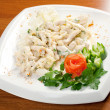 Salad with sirloin chicken — Foto de stock #7980092