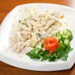 Salad with sirloin chicken — Foto Stock #7980092