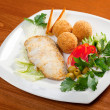 Halibut with vegetable — Stock Photo #8048011