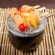 Japanese skewered seafoods — Stock Photo #8204751