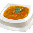 .Minestrone vegetable soup - Stock Photo