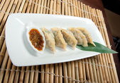 Dim-sum call Gyoza, — Stock Photo