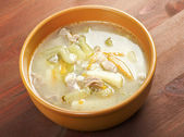 Russian tradition soup Rassolnik — Stock Photo