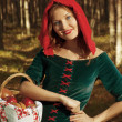 Red Riding  hood standing - Stock fotografie