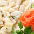 Salad with sirloin chicken — Stock fotografie #8941178