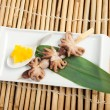 Japanese octopus skewered. — Stock Photo