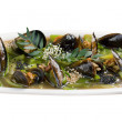 Mussels with vegetable and nut — Stock Photo #8989249