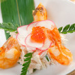 Stock Photo: Prawns and red roe