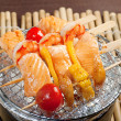 Japanese skewered seafoods — Stock Photo #9473576