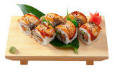 Japanese sushi maki — Stock Photo