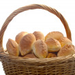 Basket full of pasties — Stock Photo