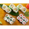 Japanese sushi Roll made of Smoked fish — Stock Photo #9679424
