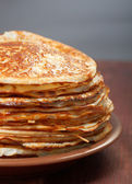 Stack of pancakes - russian traditional food — Stock Photo