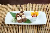 Dessert Maki Sushi — Stock Photo