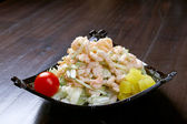 Japanese salad with prawn — Stock Photo