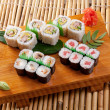 Japanese sushi Roll made of Smoked fish — Stock Photo #9967450