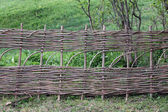 Wicker fence — Stock Photo