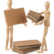 Two dummy stack cardboard — Stock Photo