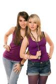 Dvě krásné mladé dámy — Stock fotografie