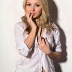 Beautiful blond young woman — Stock Photo
