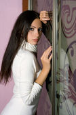 Sensual young brunette — Stock Photo