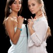 Stock Photo: Two beautiful young women