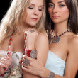 Two pretty young women — Stock Photo