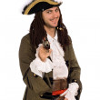 Man in a pirate costume with pistols — Stock Photo #8276332