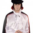 Young man in a suit of Count Dracula — Stock Photo