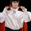 Young man in a suit of Count Dracula — Stock Photo #8285002