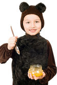 Boy dressed as bear — Stock Photo