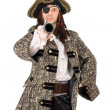 Portrait of man in a pirate costume — Stock Photo