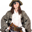 Portrait of man dressed as pirate — Stock Photo #8369243