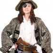 Portrait of man dressed as pirate — Stock Photo