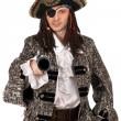 Pirate with a pistol in hand - Stock Photo