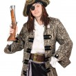 Man in a pirate costume — Stock Photo