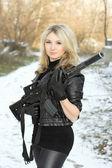 Porträt der hübsche junge blondine — Stockfoto