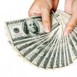 Dollars in hands of man — Stock Photo #10105707