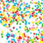 Sugar balls on sugar glaze — Stock Photo
