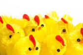 Group of easter chickens — Stock Photo