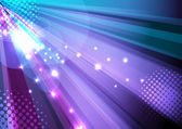 Party and disco background - ray light — Stock Vector