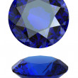 Round blue gemstone on white background. Benitoit. Sapphire. Io — Stock Photo #10102194