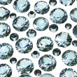 Set of round swiss blue topaz. Gemstone - Foto Stock