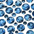 Set of Round blue sapphire. Gemstone - Foto Stock