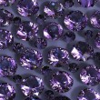Set of round amethyst . Gemstone - Foto Stock