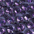 Set of round amethyst . Gemstone - Photo