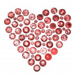 Round garnet shape of heart - Foto Stock